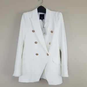 River Island off white military style blazer UK 10